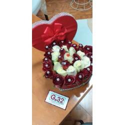 Mazzo con 7 Rose rosse