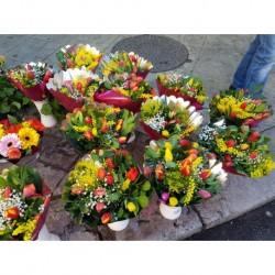 Bouquet Tulipani e Mimose