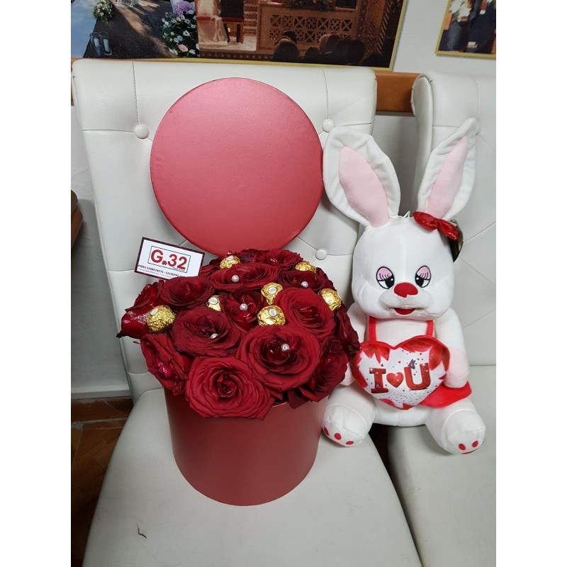 Eccezionale Bouquet di Rose Rosse OQ11